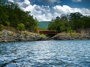 Heber Springs Prints - Wooden Bridge Print by Renee Hardison