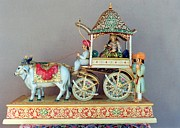 Gallery Glass Art Originals - Wooden Cart by Girdher Lal Suthar