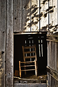 Hayloft Posters - Wooden Chair in Loft 2 Poster by Greg Jackson