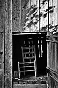Hayloft Posters - Wooden Chair in Loft Poster by Greg Jackson