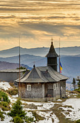 Romania Photo Originals - Wooden Church In Mountain by Ioan Panaite