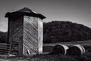 Corn Crib Photo Posters - Wooden Corn Crib Poster by Thomas Young