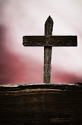 Wooden Hand Photos - Wooden Cross by Margie Hurwich