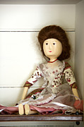 Toy Store Art - Wooden Doll by Margie Hurwich
