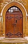 Metalwork Framed Prints - Wooden Door at Tower Hill Framed Print by Christi Kraft