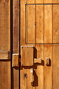 Wooden Building Posters - Wooden door detail Poster by Carlos Caetano