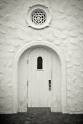 Traditional Doors Prints - Wooden door Print by Rudy Umans