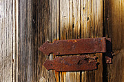 Cabin Window Photos - Wooden door with hinge by Carlos Caetano