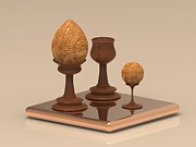 Photorealistic Prints - Wooden Egg Print by Hakon Soreide