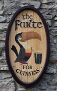 Christiane Schulze Posters - Wooden Guinness Sign Poster by Christiane Schulze