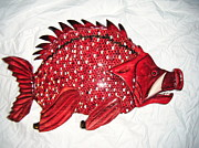 Lisa Ruggiero - Wooden Hog Fish number...