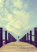 Standing Prints - Wooden Jetty Print by Christopher and Amanda Elwell