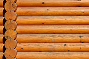 Cabin Wall Photos - Wooden Logs Wall Background by Kiril Stanchev