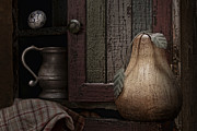Knob Photo Prints - Wooden Pear Still Life Print by Tom Mc Nemar