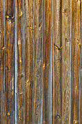 Wooden Paneling Posters - Wooden Planks Background Poster by Carlos Caetano