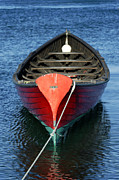 Vineyard Haven Prints - Wooden Rowboat Print by John Greim