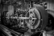 Gear Metal Prints - Wooden Sawmill Metal Print by Setsiri Silapasuwanchai
