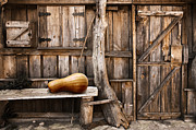 Rustic Metal Prints - Wooden shack Metal Print by Carlos Caetano