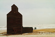 Farming Barns Posters - Wooden Silo Poster by Jeff  Swan