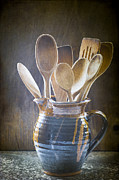 Jugs Prints - Wooden Spoons Print by Jan Bickerton