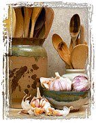 Wooden Spoons Framed Prints - Wooden Spoons V Framed Print by Ken Evans
