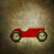 Cutouts Prints - Wooden toy car Print by Bernard Jaubert