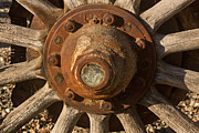 Wagon Wheels Photos - Wooden Wagon Wheel by Art Block Collections