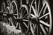 Wooden  Wagon Wheels Print by Martin Dzurjanik