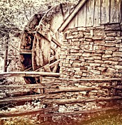 Split Rail Fence Framed Prints - Wooden Water Mill in the Ozarks Framed Print by Sharlotte Hughes