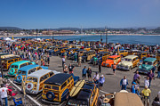 Woodies Art - Woodies On The Wharf Santa Cruz California by Randy Straka