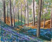 Morning Pastels - Woodland Blues by Cathy Weaver