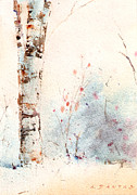 Watercolors Drawings - Woodland Nooks #5 by Alex Dantas