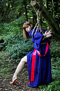 Kinbaku Prints - Woodland Nymph Captured Print by Azure Dragon