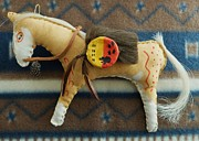 American Indian Tapestries - Textiles - Woodland Sioux pony by Lucy Deane