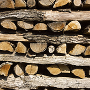 Woodpile Prints - Woodpile. Print by Bernard Jaubert