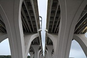 Arch Prints - Woodrow Wilson Bridge - Washington DC - 01132 Print by DC Photographer