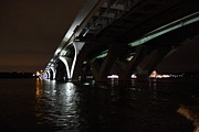Curves Prints - Woodrow Wilson Bridge - Washington DC - 011335 Print by DC Photographer