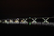 Bridge Photo Metal Prints - Woodrow Wilson Bridge - Washington DC - 011346 Metal Print by DC Photographer