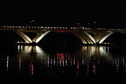 Curves Photo Metal Prints - Woodrow Wilson Bridge - Washington DC - 011350 Metal Print by DC Photographer