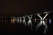 Curves Photo Metal Prints - Woodrow Wilson Bridge - Washington DC - 011371 Metal Print by DC Photographer
