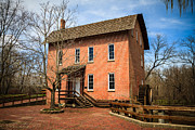 Brick Building Prints - Woods Grist Mill in Deep River County Park Print by Paul Velgos