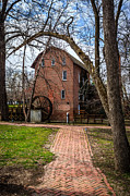 Indiana Trees Photos - Woods Grist Mill in Hobart Indiana by Paul Velgos