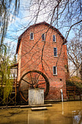 Brick Building Art - Woods Grist Mill in Northwest Indiana by Paul Velgos