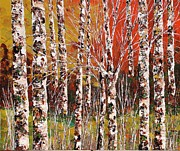 Pallet Knife Painting Originals - Woods by Shilpi Singh