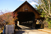 Taftsville Metal Prints - Woodstock Middle Bridge. Metal Print by Stan Amster