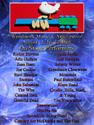 Rock N Roll Digital Art - Woodstock Music and Arts Festival by Pamela Phelps