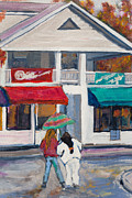 Charming Town Paintings - Woodstock NY by Linda Armstrong