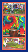 Rock N Roll Mixed Media Posters - Woodstock Triptych Poster by Steve Ohlsen