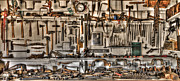 Street Machine Prints - Woodworking Tools Print by Debra and Dave Vanderlaan