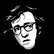 Woody Allen Prints - Woody Allen Print by Cool Canvas